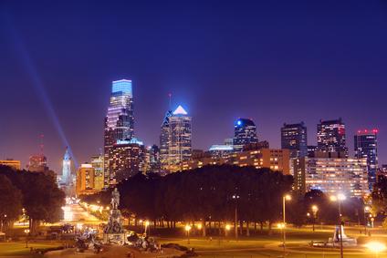 Center City Philadelphia:  Night Skyline