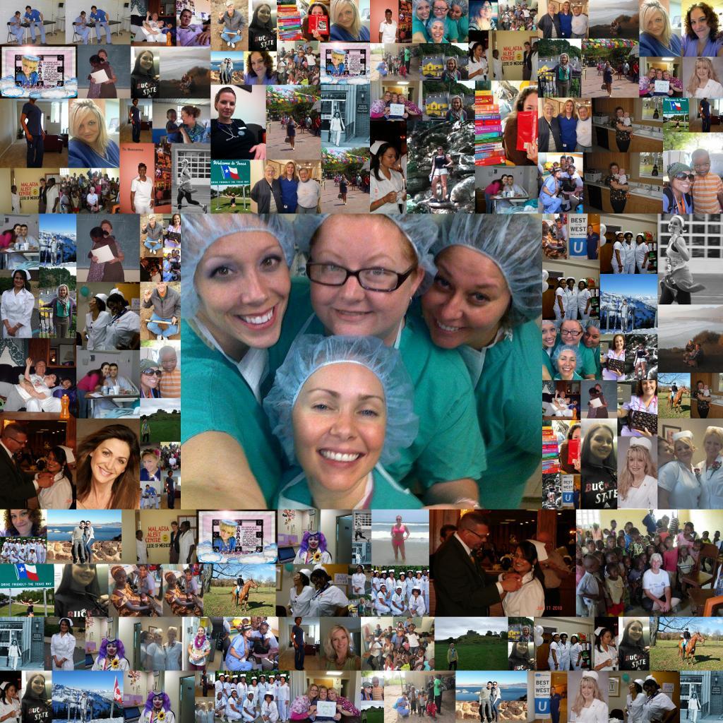 Collage of nurse photos