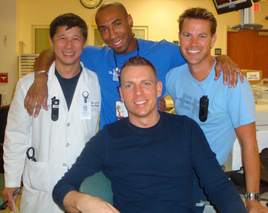 Florida ER Nurse Eddie Johnson and coworkers