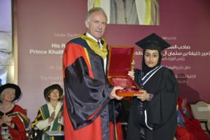 Photo: winner of Rufaida Al-Aslamia Prize