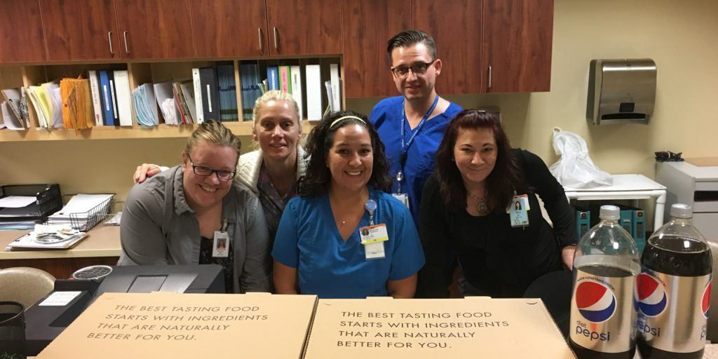 Photo: Nursing Week pizza winners! Hospice of the Valley - St. Joseph's PCU