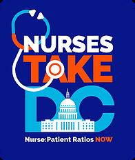 Logo: #NursesTakeDC