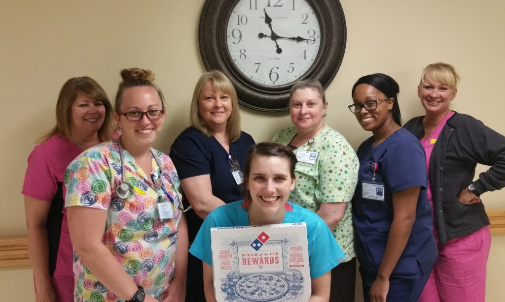 Photo: Nursing Week pizza winners! Night shift nurses at Highlands Medical Center in Scottsboro, AL