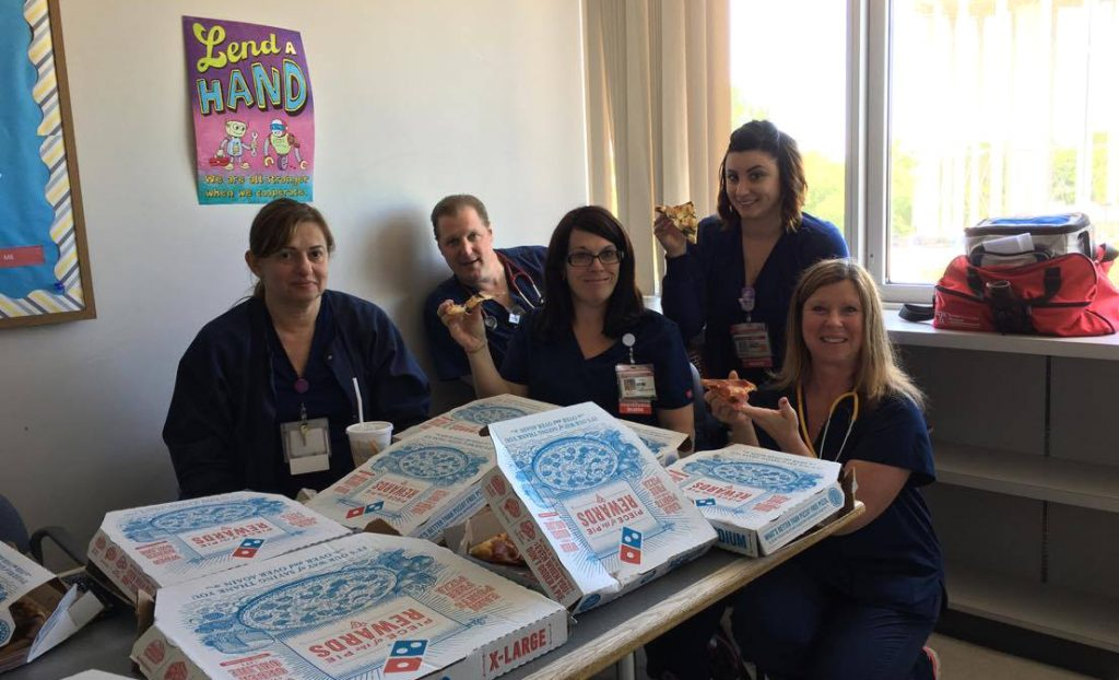 Photo: Nursing Week pizza winners!