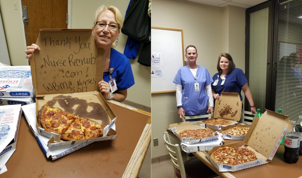 Photo: Nursing Week pizza winners! Intermediate Care Unit night shift nurses at Brookwood Baptist Health/Walker Baptist Medical Center in Jasper, AL.