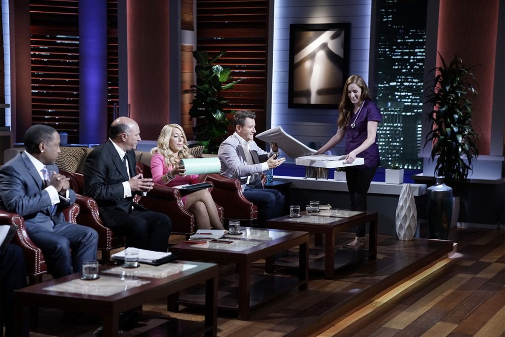 Photo: Melissa Gersin presents Tranquilo Mat on Shark Tank