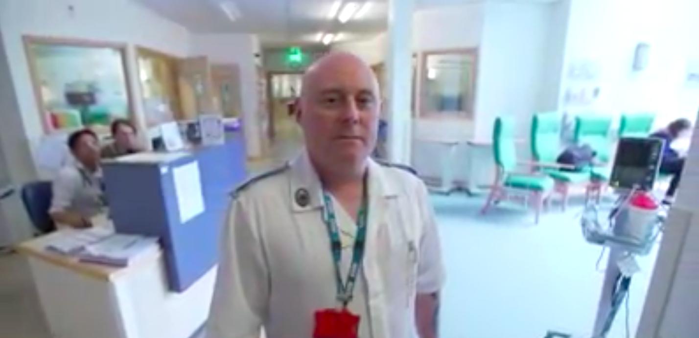 Video still: John McElroy, brick maker turned registered nurse