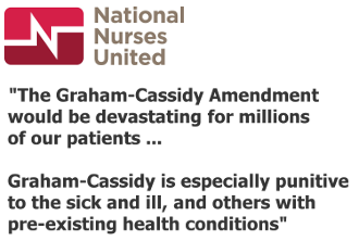 National Nurses United on the Cassidy-Graham bill