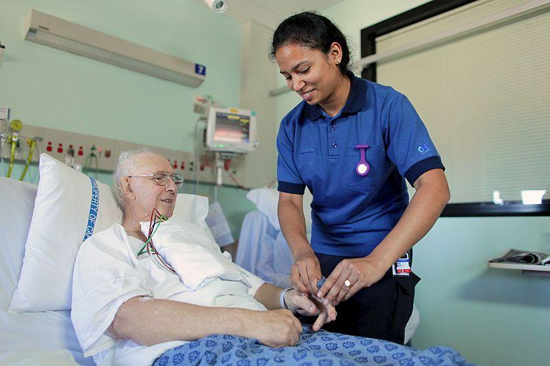 Photo: Australian nurse in Canberra hospital