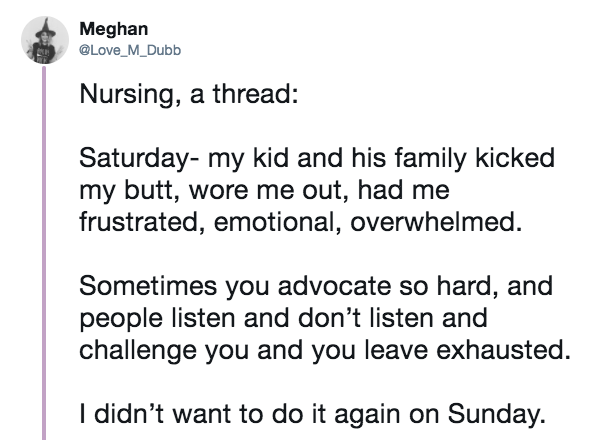 Twitter story thread on pediatric nursing, part 1