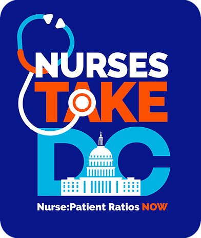 Logo: #NursesTakeDC