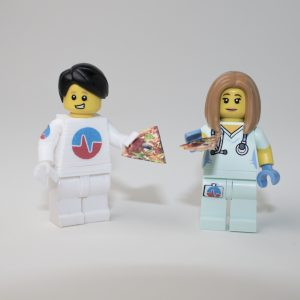Photo: Lego nurse pizza