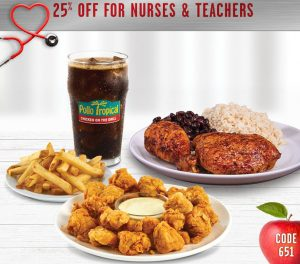 Pollo Tropical Nurses Week offer
