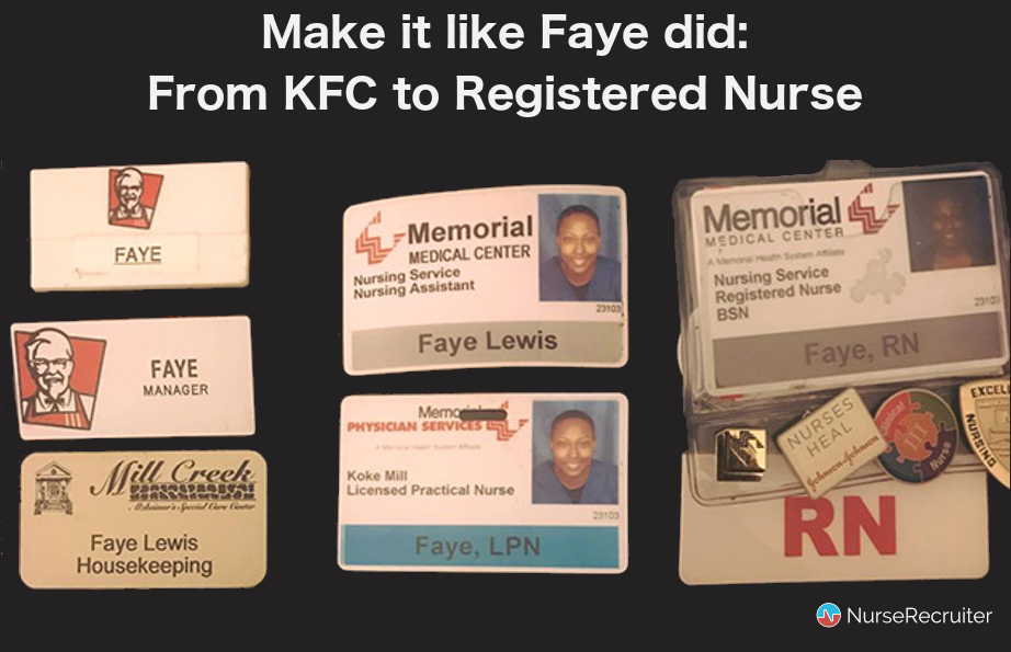 Photo: The story of Faye Lewis, from KFC to RN:
