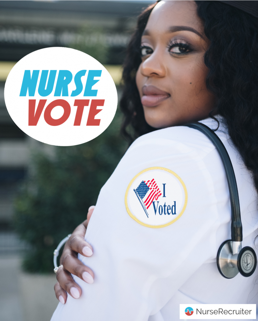 Logo: Nurse Vote - vertical