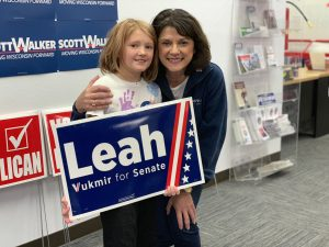 Photo: Leah Vukmir on the campaign trail
