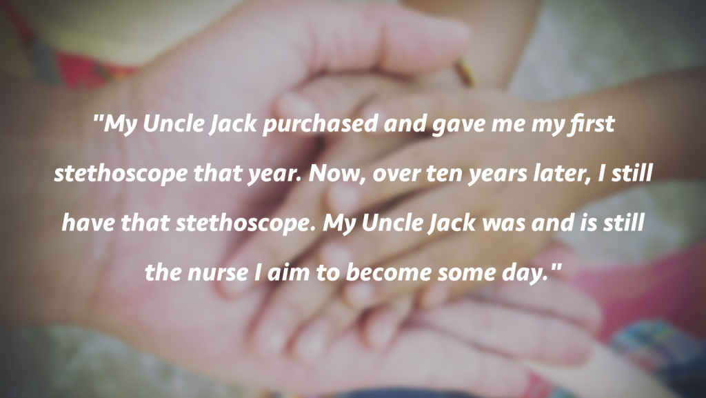 Quote: Uncle Jack as nurse role model