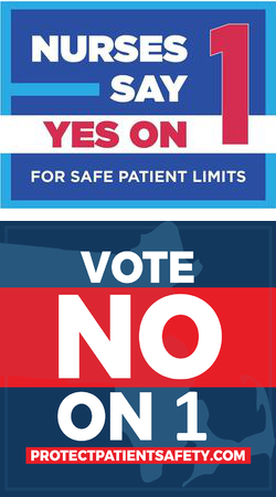 Campaign logos: Vote Yes or No on Question 1 in Massachusetts?