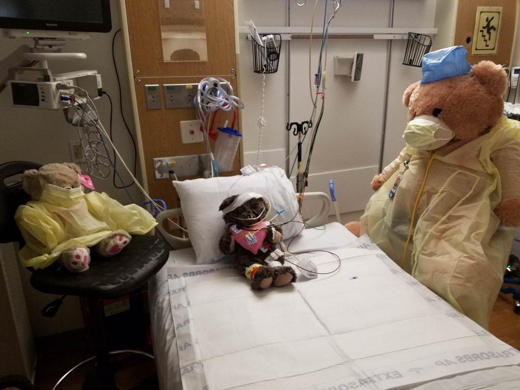 Photo: teddy bears in ICU