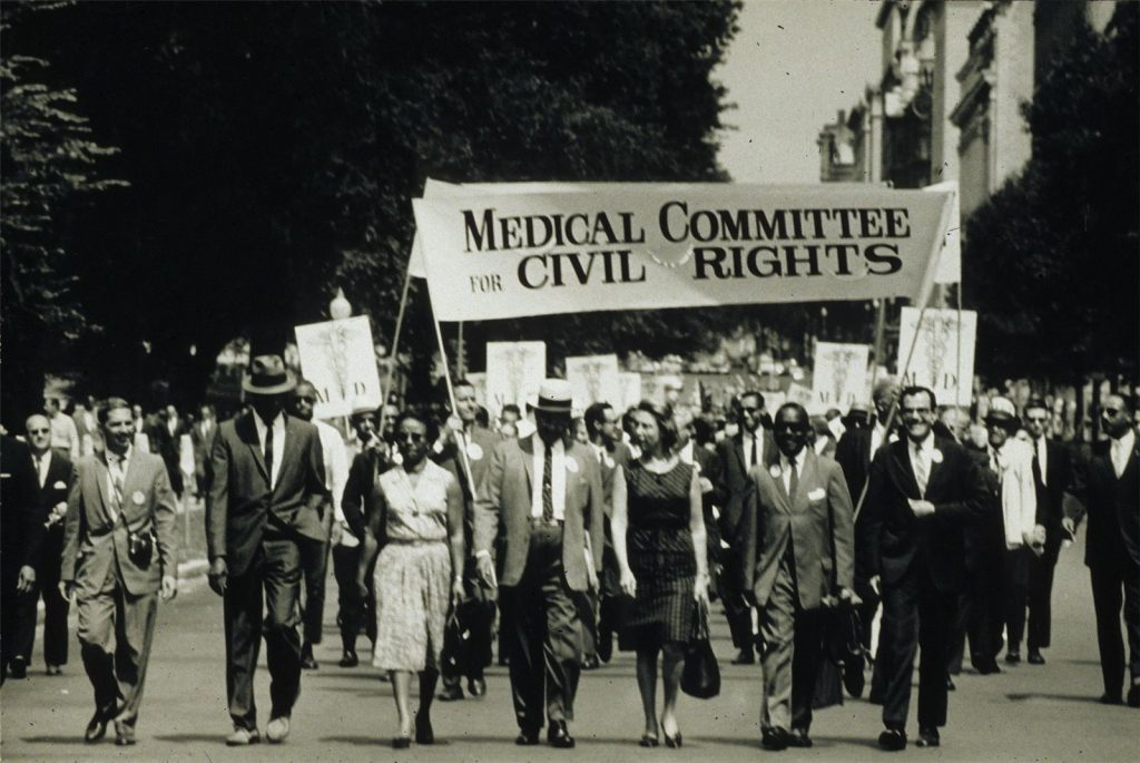 Photo: The Medical Committee for Civil Rights at the March on Washington