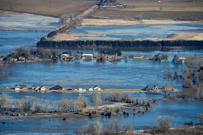 "Flooded: Nebraska countryside in the wake of the ""bomb cyclone"""