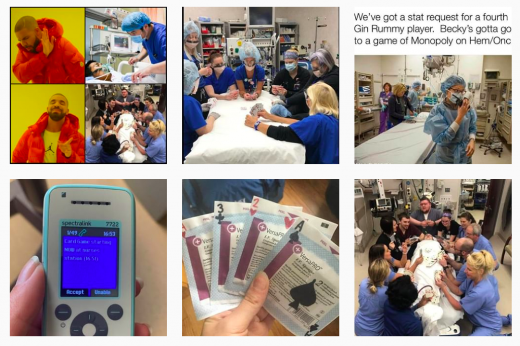 #Nursesdontplaycards memes