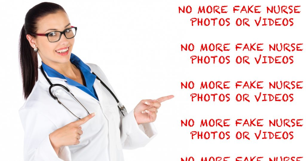 No More Fake Nurse Stock Photos or Models Posing as Nurses!