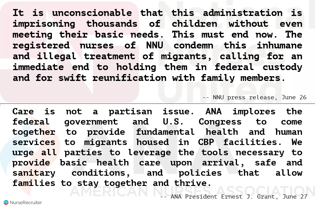 Who speaks for you? NNU and ANA statements on migrants and the border