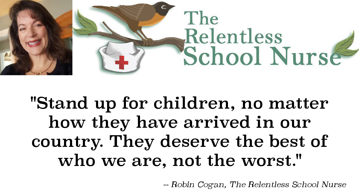 Quote image - Robin Cogan: Stand up for children