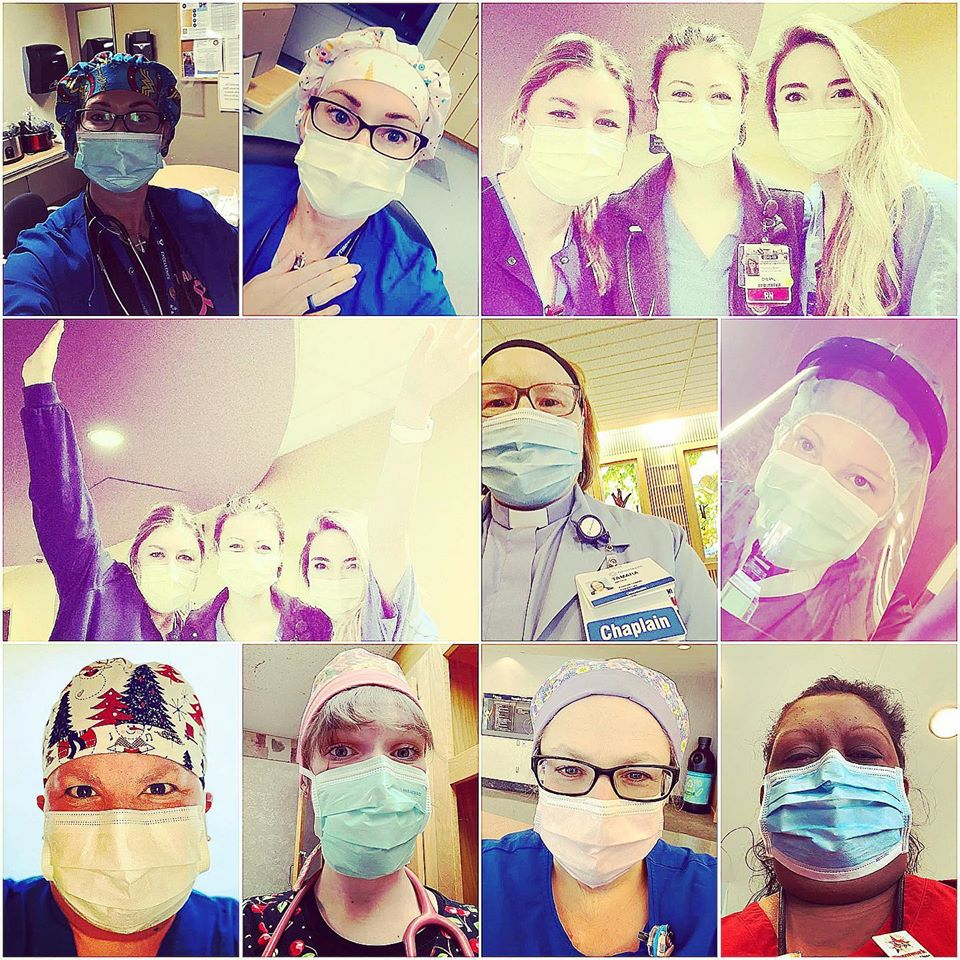 Support Our Scrubs: photo collage