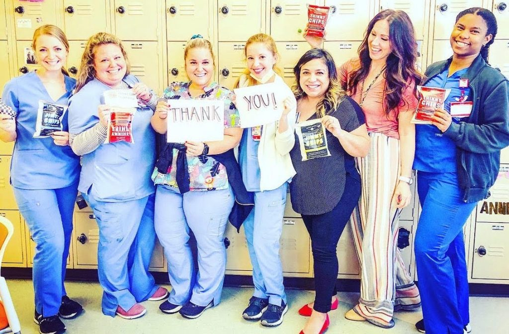 Photo: Support Our Scrubs gets snacks to nurses