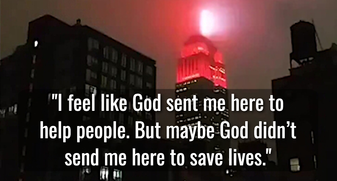 "Quote image: ""I feel like God sent me here to help people"""