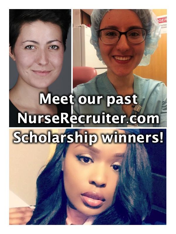 The first three NurseRecruiter scholarship winners