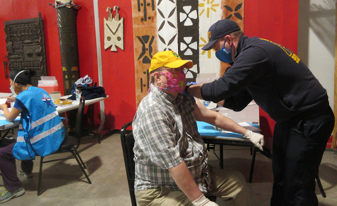 Photo: COVID-19 Vaccination at Ashe Cultural Arts Center, New Orleans.